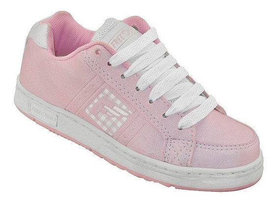 Tenis Freedom Feel Rosa E Branco - K449