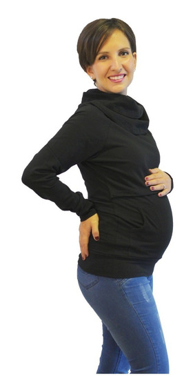 Sudadera Para Embarazo Y Lactancia Negro Emma