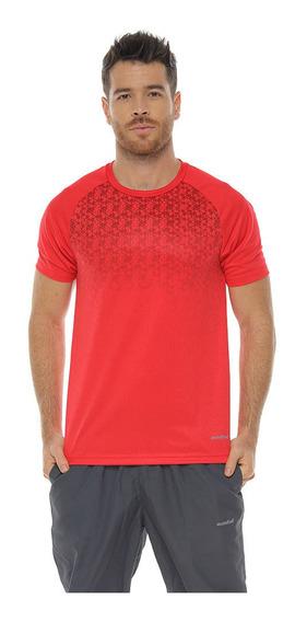 Camiseta Deportiva Manga Corta, Color Rojo Para Hombre