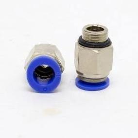 Conexão Pneumática Reta 1/4x8mm Pacote C/ 9unidades