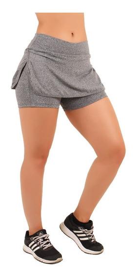 Kit 5 Short Saia Feminino Para Malhar Suplex Atacado Fitness