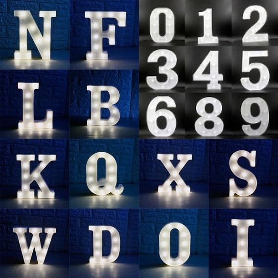 Kit 15 Numero Letra Luminária Led 3d Luminosa Decorativa Fes