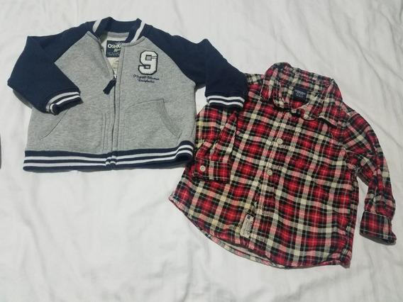Chompa Y Camisa Oshkosh Nuevo Para Bb 18 Meses