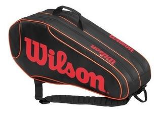 Bolso Raquetero Tenis Wilson Burn Team Para 6 Raquetas