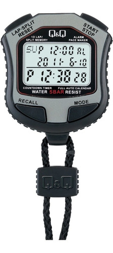 Cronometro Q&q Hs-45, 10 Tiempos Pacemaker Reloj Timer Wr50m