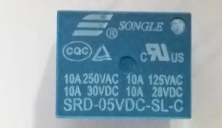 Rele Songle Srd-05vdc-sl-c 10a 5 Pinos - 5 Pçs