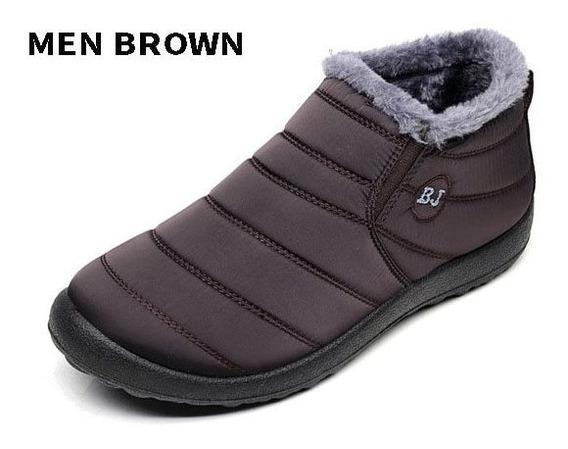 Merkmak New Moda Homens Sapatos De Inverno Cor Sólida Botas