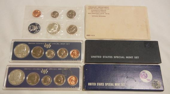 1965 Moneda Plata Proof Americano Eeuu Acabado Espejo