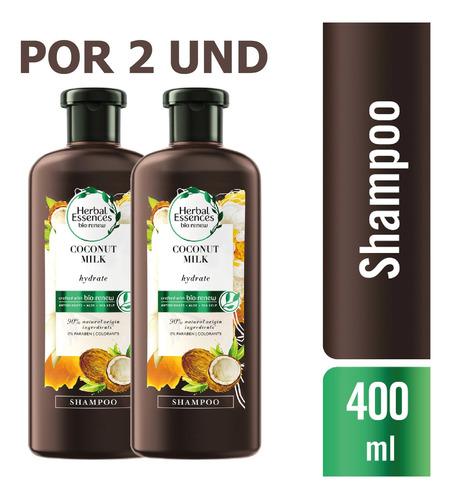 Shampoo Herbal Essences Bio:renew Coconut Milk, 400ml X2 Und