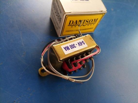 Transformador 0+6vx300ma Com Entrada 110/220v