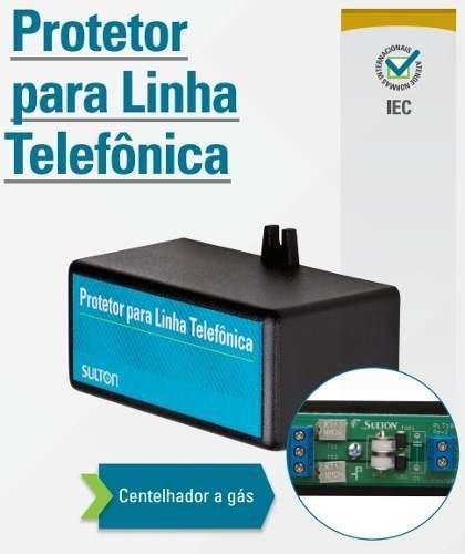 Protetor Para Linha Telefônica Centelhador A Gás Sulton