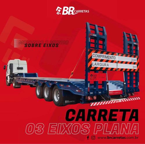 Carreta Prancha  3 Eixos - B R Carretas