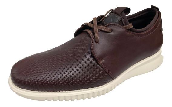 Zapato Casual Karosso 2610 Hombre Estilo Relajado Piel Cafe
