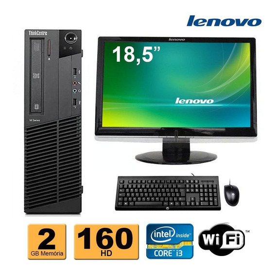 Cpu Lenovo M92 Core I3-2120 2gb 160gb Dvd + Monitor Lenovo