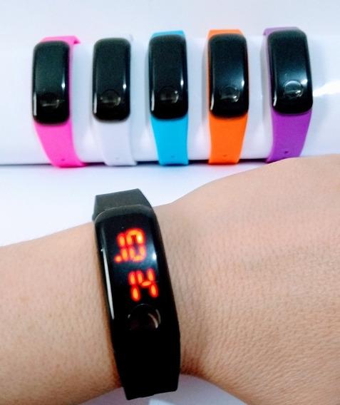 Bracelete Led Digital Quadrado P/ Crianças E Adultos