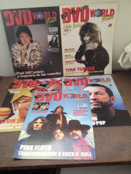 Dvd World Music 5,6 E 7 + Série Gold 7 E 8 - Só As Revistas