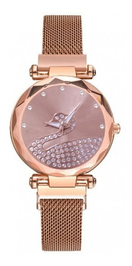 Relógio Casual Feminino Swan / Rosa Ouro