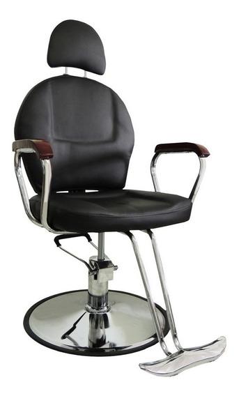 Cadeira Hidráulica Em Couro Pu Reclinável Pel-036a