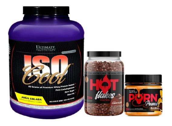 Kit Whey Isocool 2,27kg + Flakes 700g + Pasta 500g Ultimate
