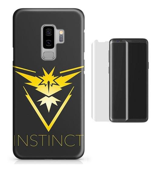 Kit Capa Galaxy S9 Plus Pokemon Instinct+pel.vidro (bd01)