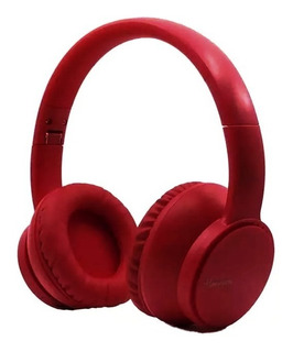 Auriculares Bluetooth Harrison D1 Xbass Bateria 4hs Rojo