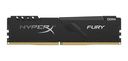 Imagem 1 de 3 de Memoria Hyperx Fury, 8gb,2666mhz,ddr4, Cl16,preto