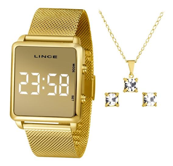 Relógio Lince Digital Led Feminino Mdg4619l Bxkx C/ Nota