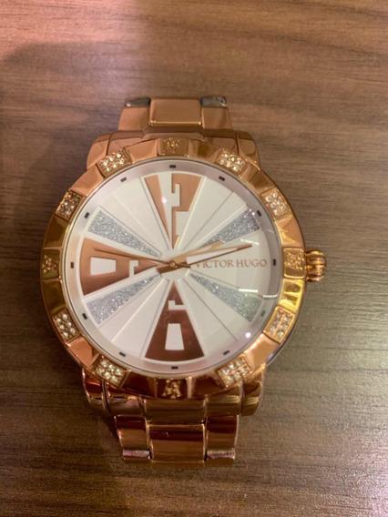 Relógio Victor Hugo Rose Vh10108 Original Maravilhoso