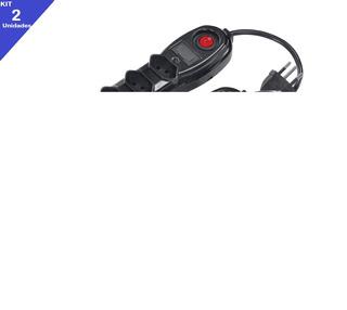 2 Filtro De Linha 5 Tmds Com Fusível E Chave Cabo Pp 3x0,75