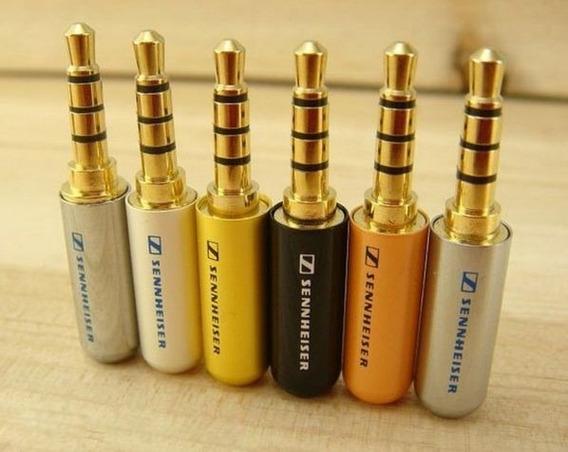 Plug P2 4 Polos P3 - 4 Vias - Audio Video Fone Microfone 1ª