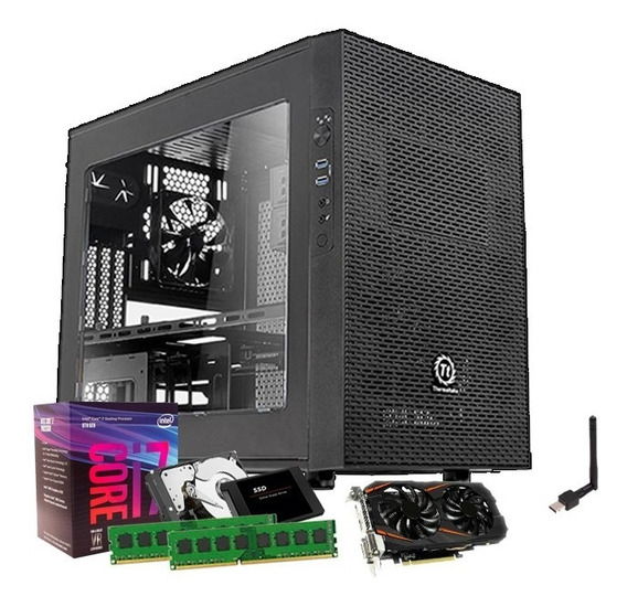 Desktop I7 8700 8 Geração, Geforce 6gb 1060 Gtx, 32gb, Ssd 240gb, 1tb + Nfe