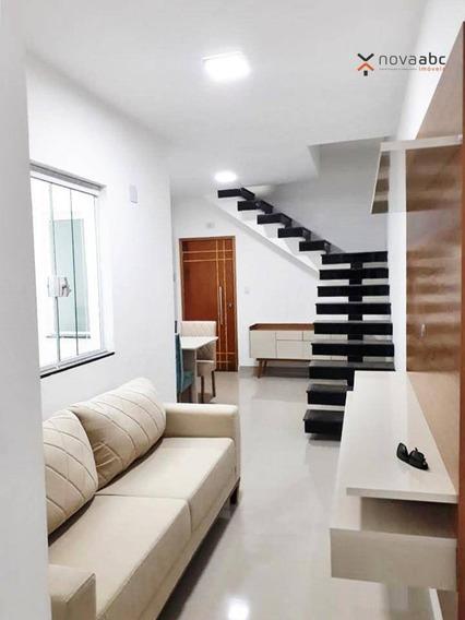 Cobertura Com 2 Dormitórios À Venda, 50 M² Por R$ 355.000,00 - Vila Valparaíso - Santo André/sp - Co0333