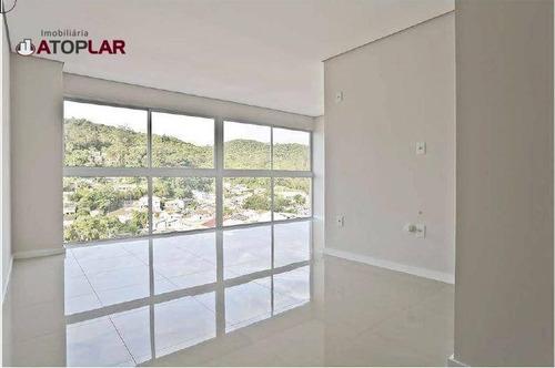 Apartamento À Venda, 35 M² Por R$ 466.988,37 - Fazenda - Itajaí/sc - Ap0894