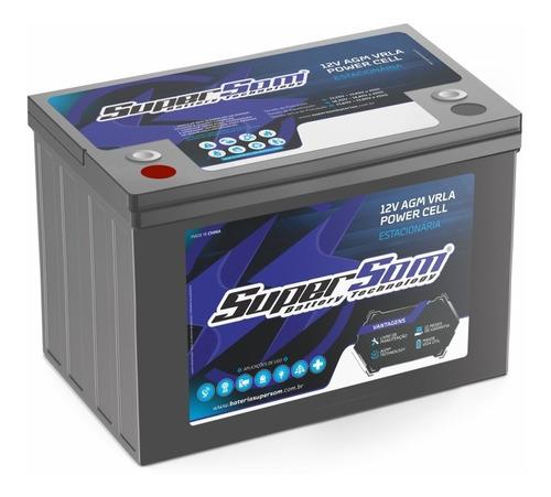 Bateria Gel 120ah Super Som Estacionária Agm Vrla Nova 12v