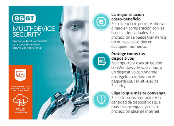 Eset Multidevice Security 3 Lic 1 Año