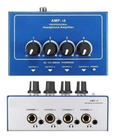 Amplificador De Fones Ouvido Misturador 8 Canais P2 + P10