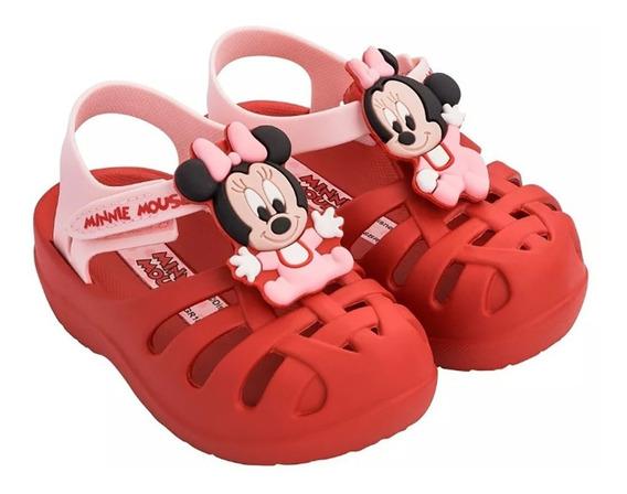 Papete Infantil Menina Minnie Disney Vermelha Grendene Zito