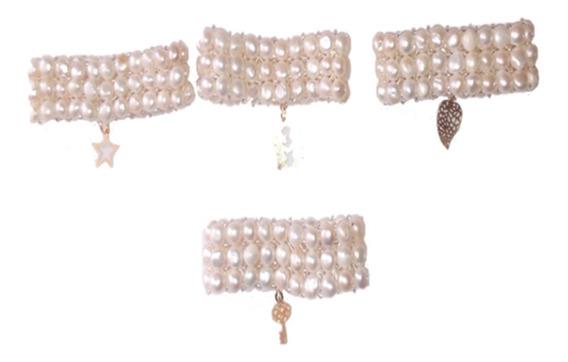 Pulseras Elegantes Semanario 7 Perla Cultivada A059