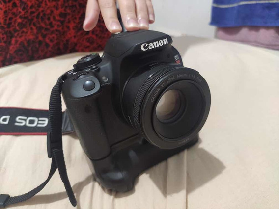 Câmera Cânon T5i, Battery Grip, Lente 50mm E Cartão De 64 Gb