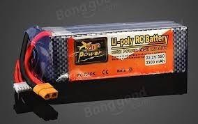 2 Baterias 22.2v 3300mah 40c.