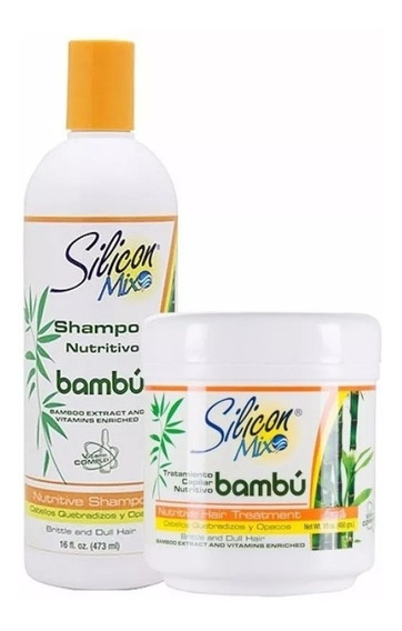 Kit Shampoo 473ml + Máscara 450g Silicon Mix Bambu