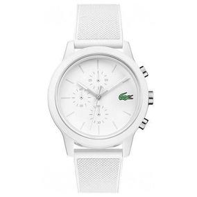 Relógio Lacoste Masculino Borracha Branca - Original