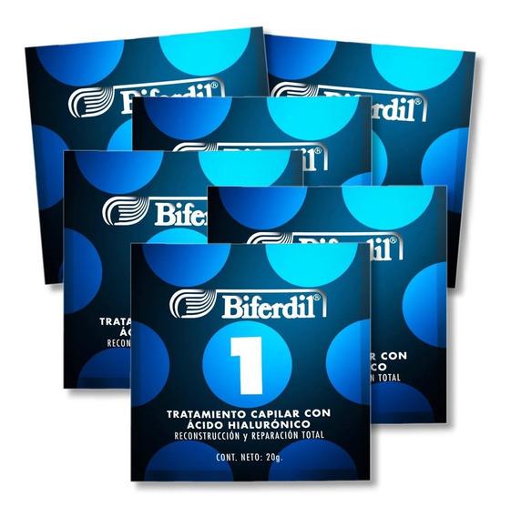 Tratamiento Capilar Biferdil 1 Con Ácido Hialurónico Kit 6un