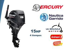 Mercury 15hp 4t 0 Hs. Nautica Garrido - La Brujula Motores