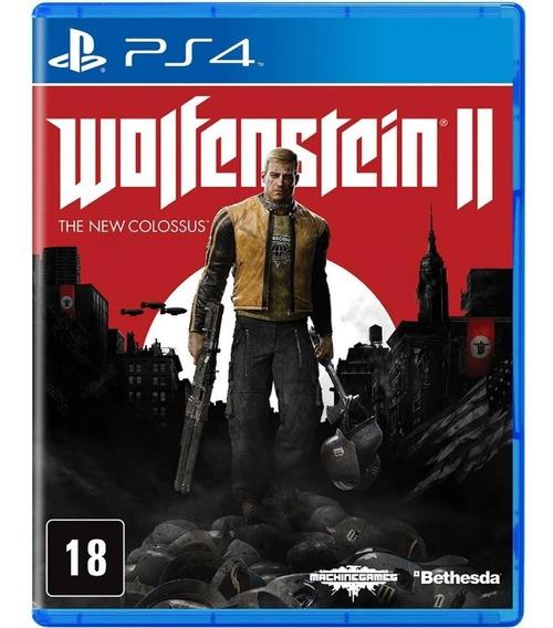 Wolfenstein 2 The New Colossus - Ps4 Jogo Mídia Física Novo