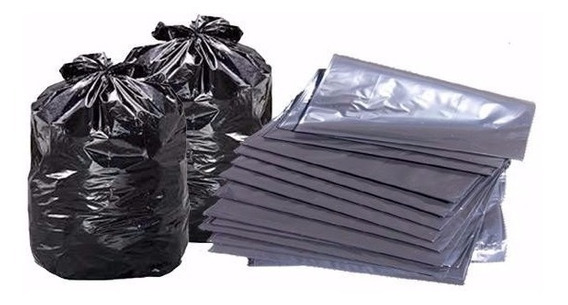Bolsa Negras De 40 Kg Calibre 12 Fuertes Paquete De 100 Y 50