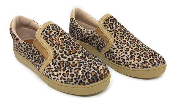 Tênis Feminino Tumblr Animal Print Casual Blogueira Slip On