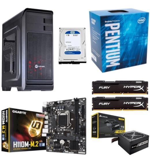 Pc Hunter Pentium G4560 H110m M2 Hx 16gb Vs400 Hd 1tb