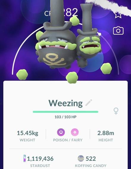 Weezing De Galar Pokemon Go