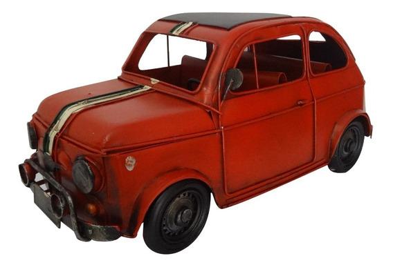 Auto Fiat 600 Rojo Italia Escarabajo Coleccion Miniatura